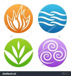 Elements clipart fire and water