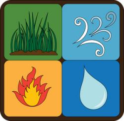 Element clipart fire and water