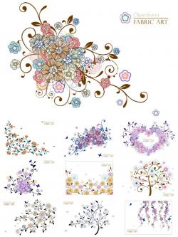 Elements clipart floral decoration