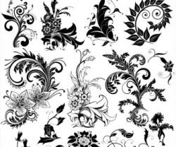 Element clipart floral decoration