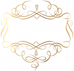 Elements clipart gold decorative line