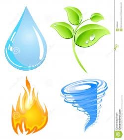 Elements clipart natural element