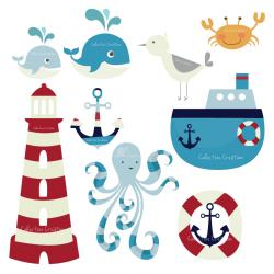 Sailboat clipart themed
