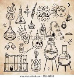Alchemy clipart chimie