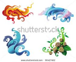 Elemental clipart vector