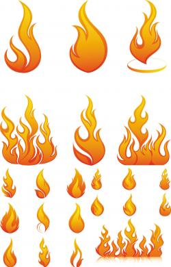 Flames clipart hand drawn