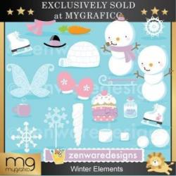Element clipart winter