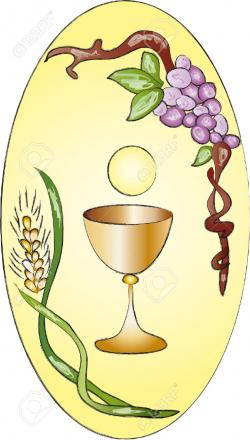 Stained Glass clipart chalice host