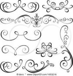 Line Art clipart calligraphy