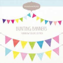 Pastel clipart bunting banner