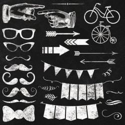 Hipster clipart banner