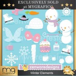 Elements clipart winter