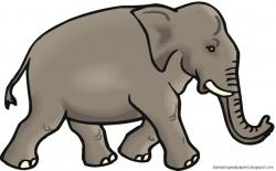 Asian Elephant clipart line art