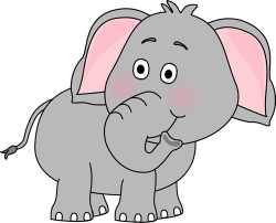 Gray clipart elephant trunk