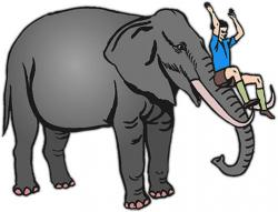 Asian Elephant clipart cartoon