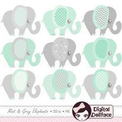 Mint clipart elephant