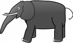 Asian Elephant clipart gray elephant