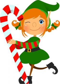 Candy Cane clipart elf