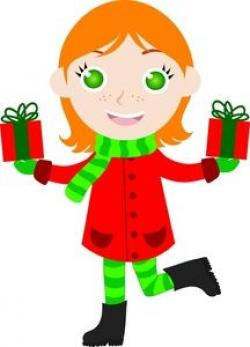 Elf clipart christmas gifts