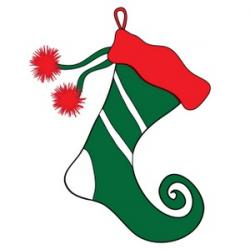 Elf clipart christmas stocking