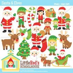 Elf clipart christmas theme