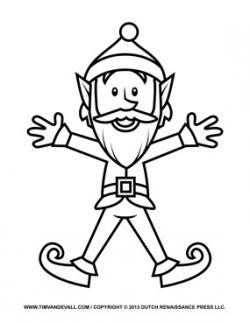 Elf clipart coloring