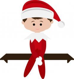 Elf clipart elf on shelf