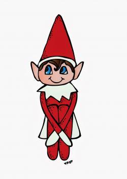 Santa clipart elf on shelf