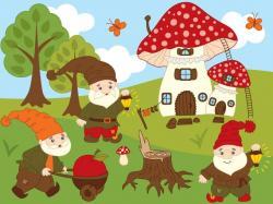 Elfen clipart forest