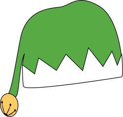 Elf clipart green santa hat
