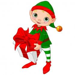 Elf clipart happy holiday