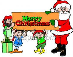 Elf clipart merry christmas
