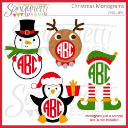 Elf clipart monogram