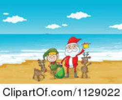 Elf clipart on beach