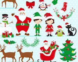 Elfen clipart santa his elf