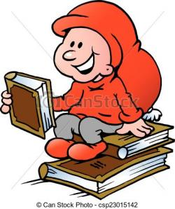 Elf clipart reading