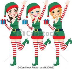 Elf clipart santa helper