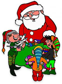Elf clipart santa his elf