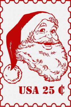 Christmas clipart postage stamp