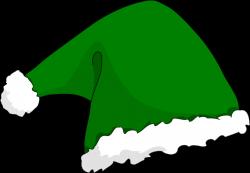 Elfen clipart green santa hat