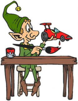 Elf clipart toy making