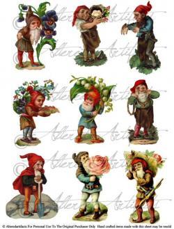 Gnome clipart vintage