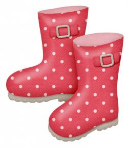Boots clipart red rain boot