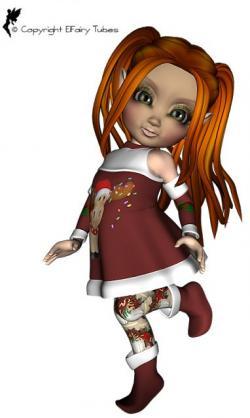 Elfen clipart brown