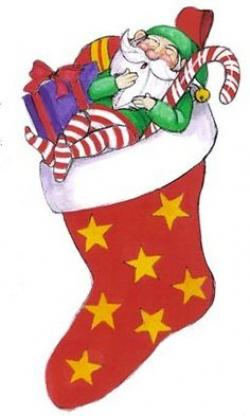 Elfen clipart christmas stocking