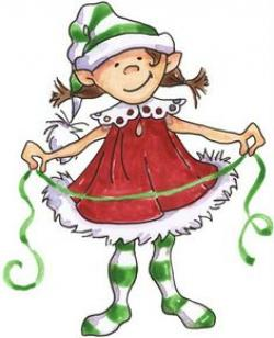 Elfen clipart drawing christmas