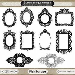 Photoshop clipart baroque pattern