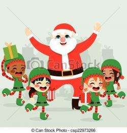 Elfen clipart santa helper