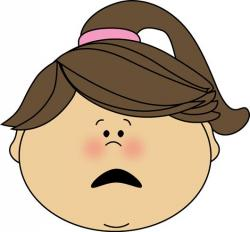 Emotions clipart scared face