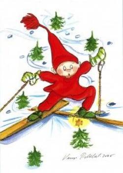 Elfen clipart skiing